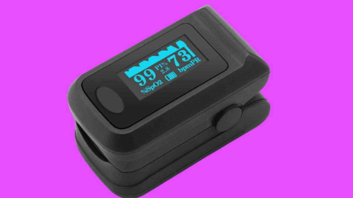 Caline Fingertip Pluse Oximeter - Multi-Directional Display, Blood Oxygen Heart Rate, Infrared Measurement, Suitable for Fitess,Special situations are Most Important for Their own Safety