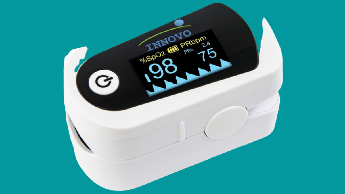 Innovo Premium iP900BP Fingertip Pulse Oximeter Blood Oxygen Monitor with Plethysmograph and Perfusion Index