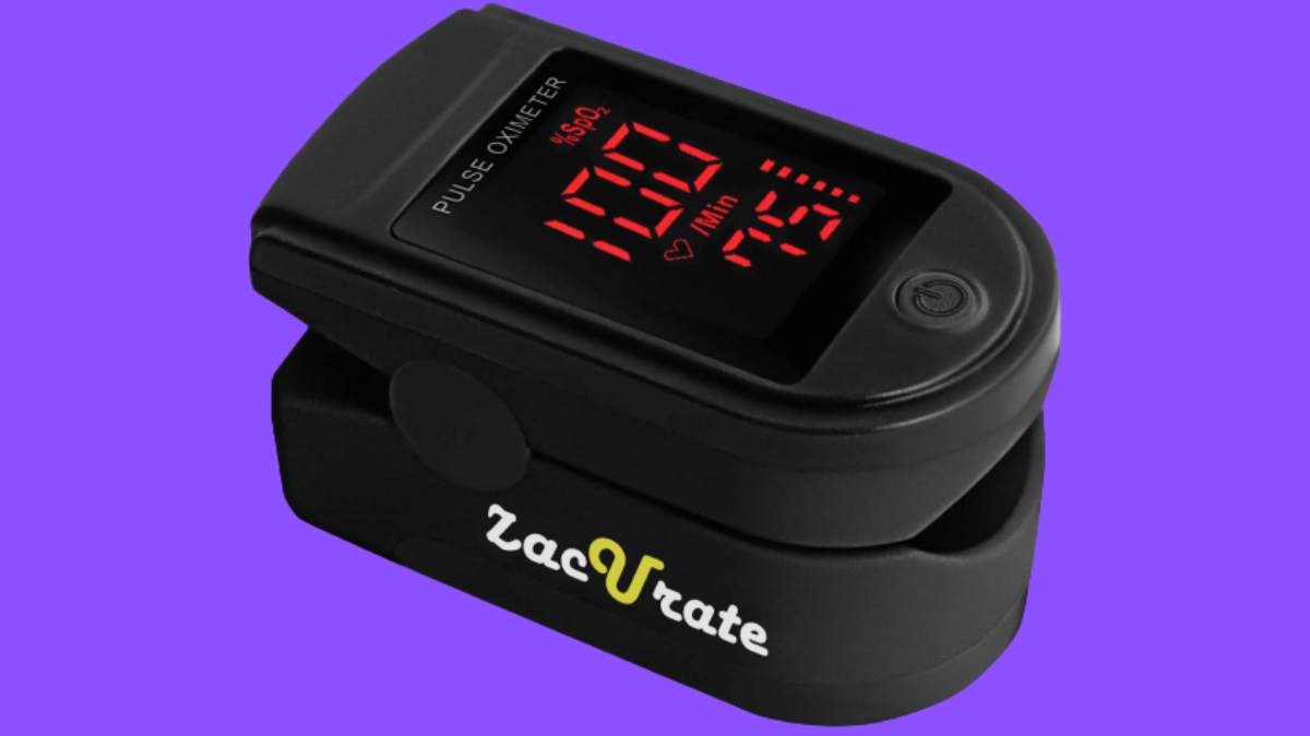 Zaccurate Pro Series 500DL SP02 Sensor and Blood Oxygen Saturation Monitor