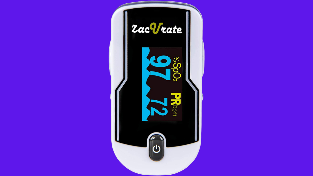 Zacurate 500E Premium Fingertip Pulse Oximeter Oximetry Blood Oxygen Saturation Monitor with Silicon Cover